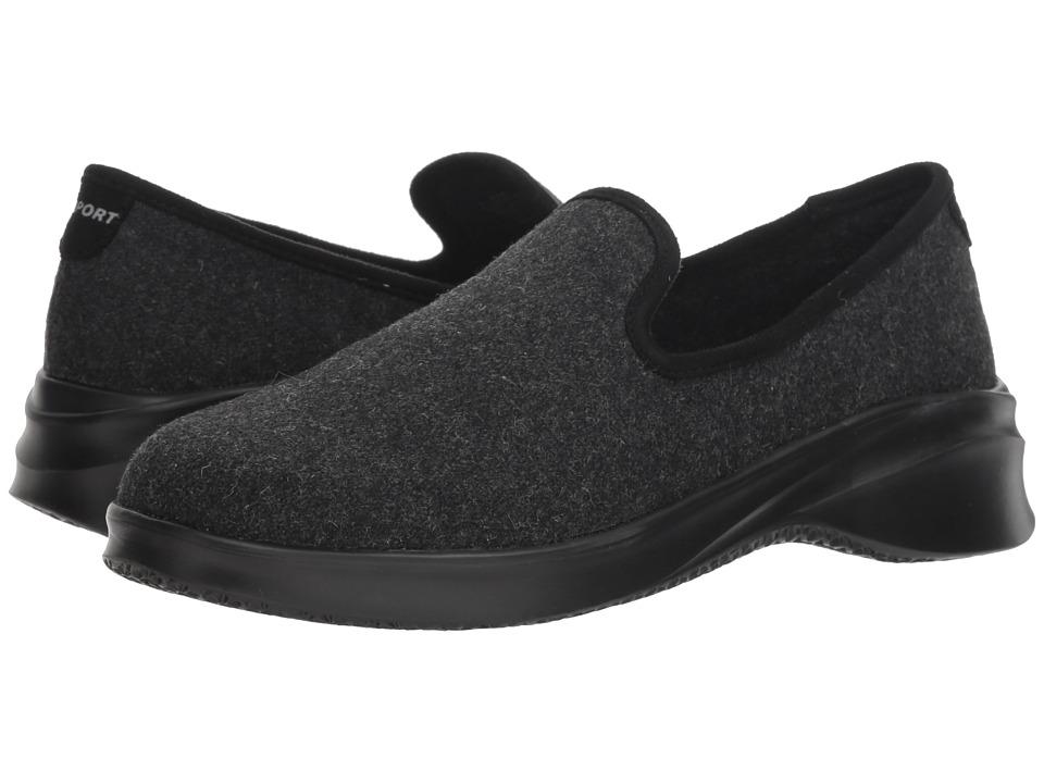 JBU Loon Wool Slip-On (Black) Women's Shoes