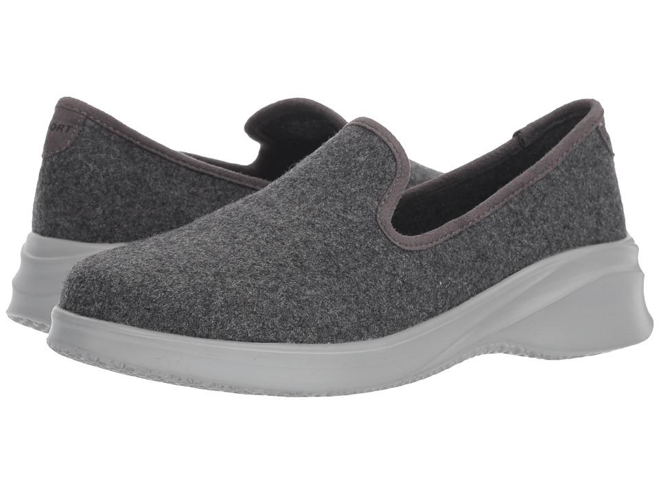 JBU Loon Wool Slip-On (Charcoal) Women's Shoes