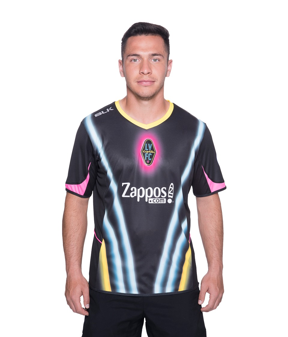 Las Vegas Lights F.C. - Home Jersey (Black) Mens Clothing