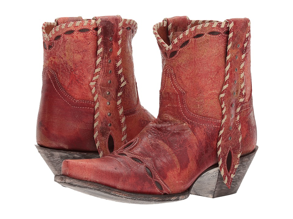 Dan Post Livie (Red Leather) Cowboy Boots