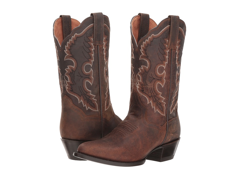 Dan Post Bev (Brown Leather) Women's Cowboy Boots