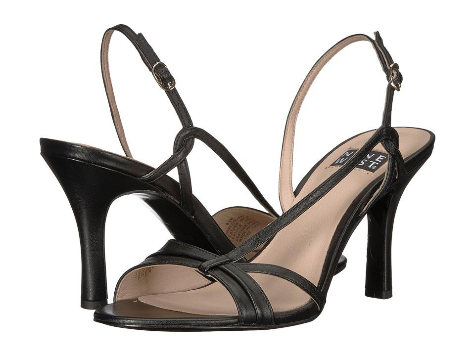 Nine West - Accolia 40th Anniversary Heeled Sandal (Black Leather) Womens Sandals