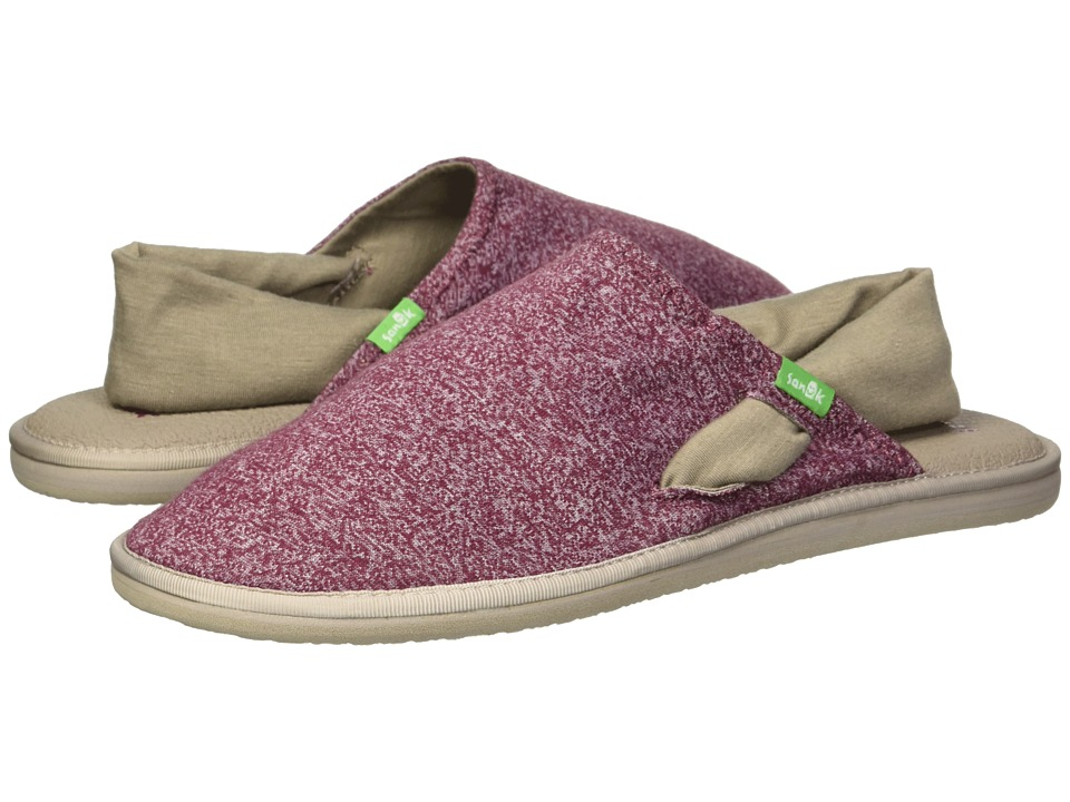 Sanuk Yoga Sling Cruz (Heather Burgundy) Women's Shoes