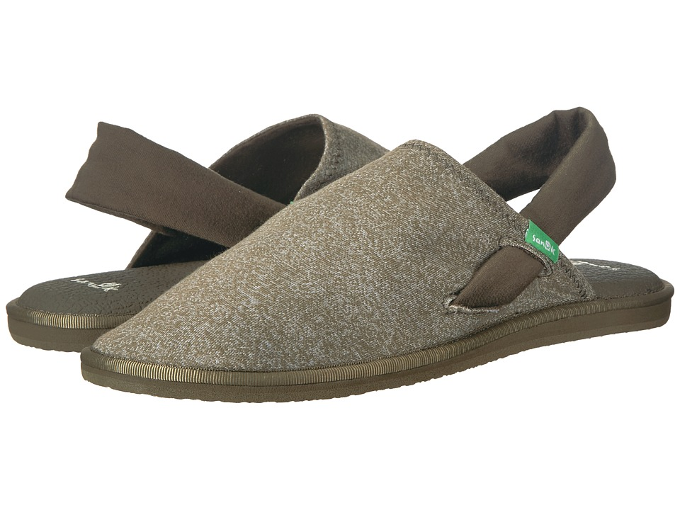 Sanuk Yoga Sling Cruz (Heather Burnt Olive) Women's Shoes