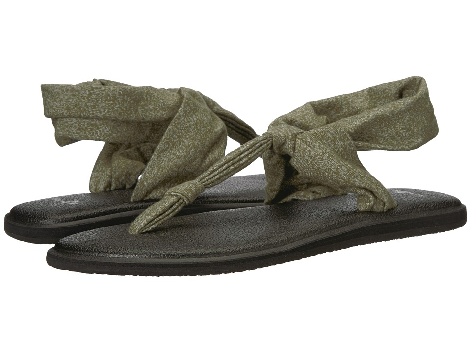 Sanuk Yoga Sling Ella (Heather Dark Olive) Sandals
