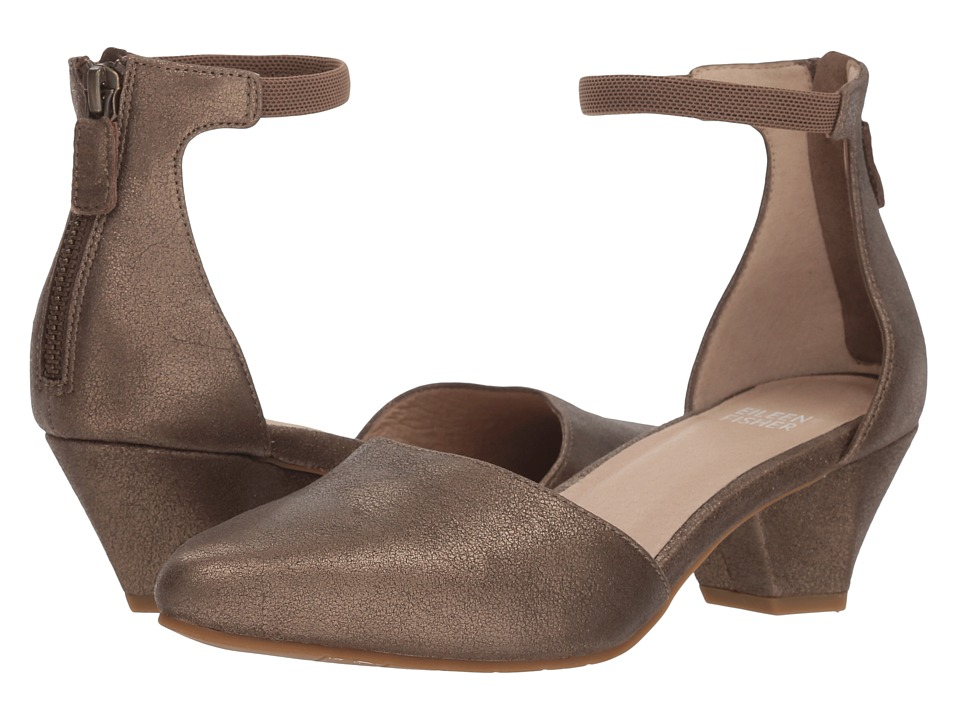 Eileen Fisher Just (Bronze Metallic Leather) Women's Shoes