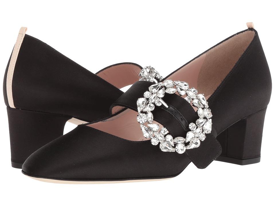SJP by Sarah Jessica Parker Cosette (Ebony Satin) Women's Shoes