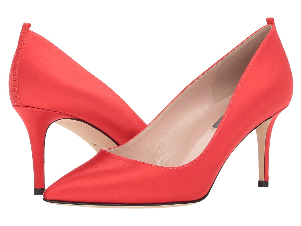 SJP by Sarah Jessica Parker Fawn 70mm (Red Satin) Women's Slip-on Dress Shoes