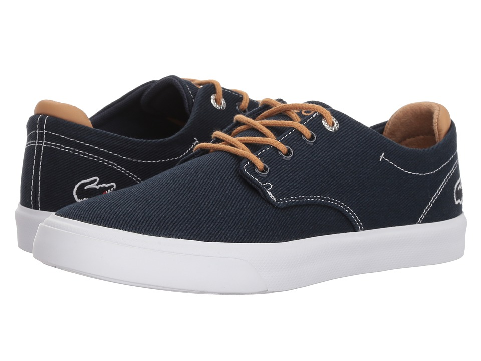 Lacoste Kids - Esparre (Big Kid) (Navy/Light Tan) Boys Shoes