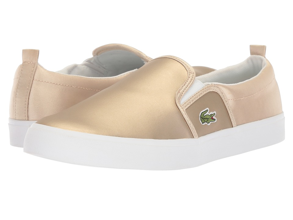 Lacoste Kids - Gazon (Little Kid) (Gold/White) Girl's Shoes