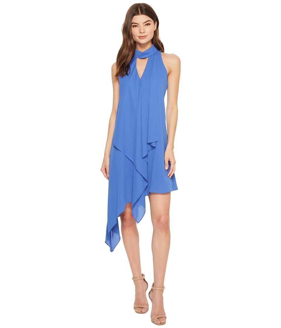 Maggy London - Cascade Swing Dress (Denim Blue) Womens Dress