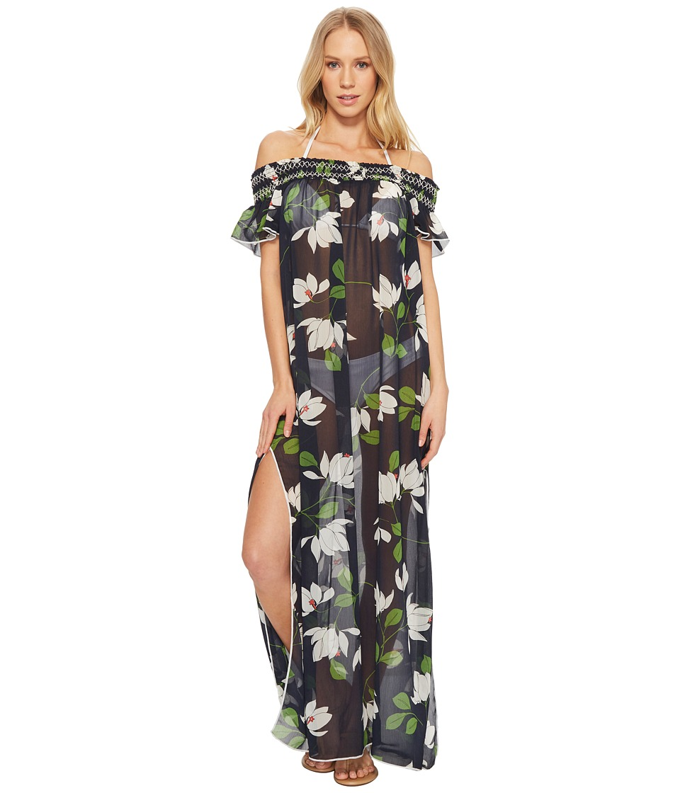 Robin Piccone Elisa Sheer Off The Shoulder Maxi Dress Cover-Up 180725-414