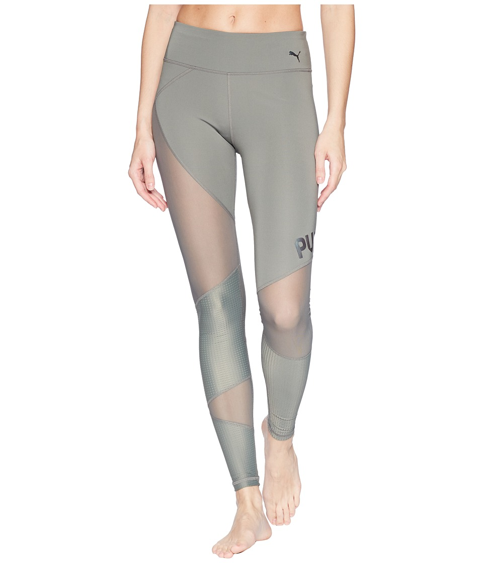 PUMA - Punch Long Tights (Castor Grey) Womens Workout