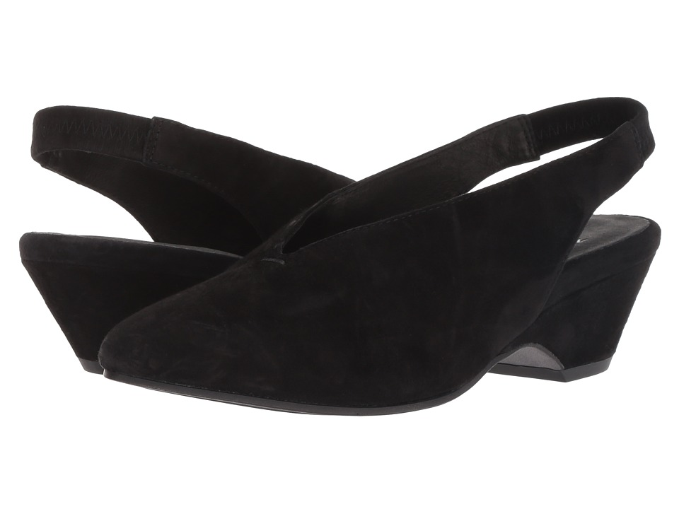 Eileen Fisher Gatwick (Black Suede) Women's Shoes