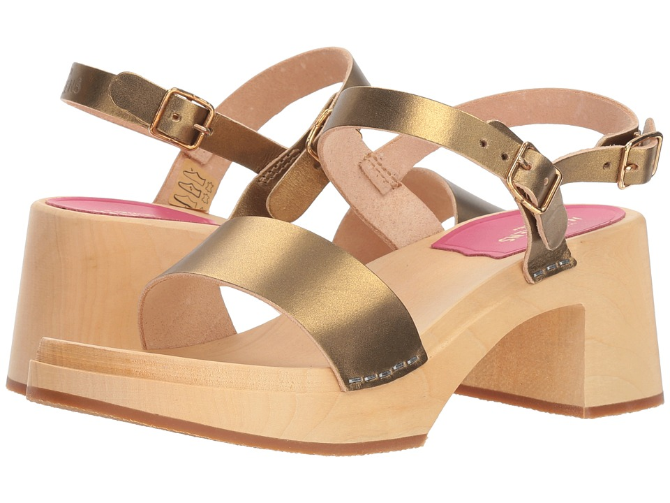 Swedish Hasbeens Gittan (Gold) Sandals
