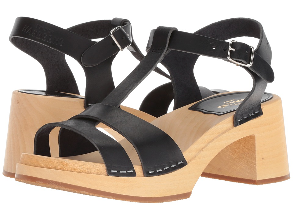 Swedish Hasbeens Birgit (Black) Sandals