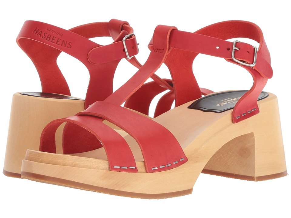 Swedish Hasbeens Birgit (Red) Sandals