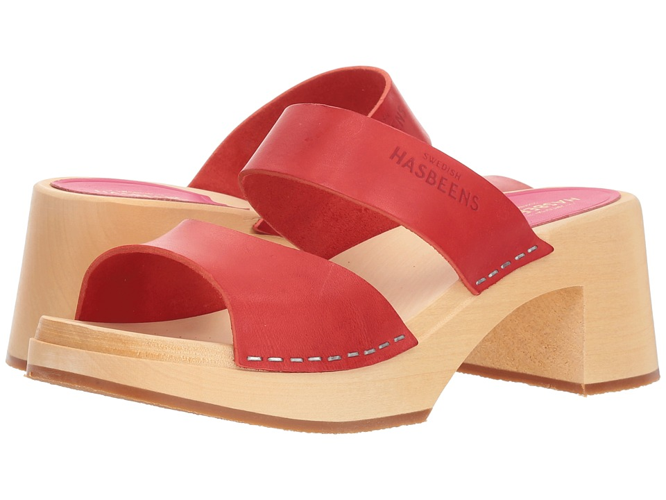Swedish Hasbeens Maria (Red) Sandals