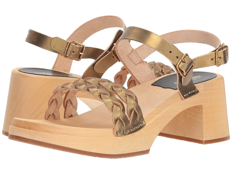 Swedish Hasbeens Tanja (Gold) Sandals