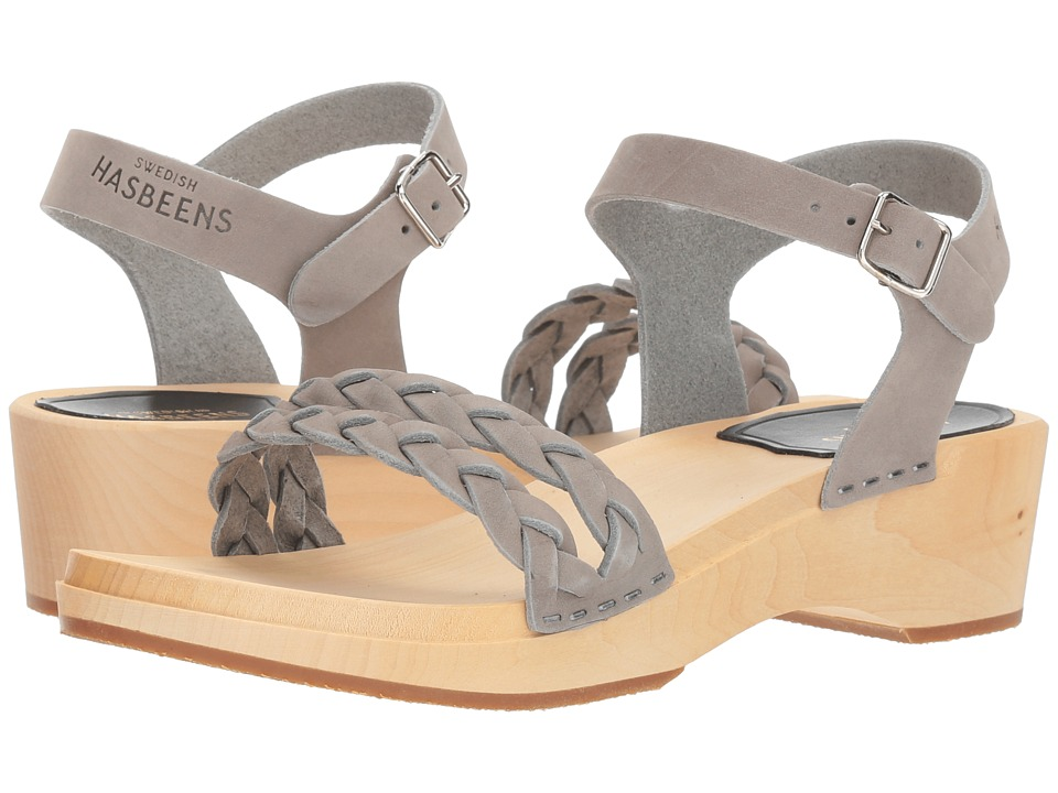 Swedish Hasbeens Tanja Debutant (Grey Nubuck) Sandals