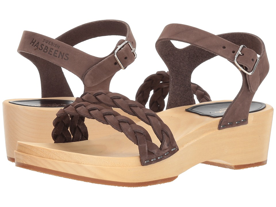 Swedish Hasbeens Tanja Debutant (Chocolate Nubuck) Sandals