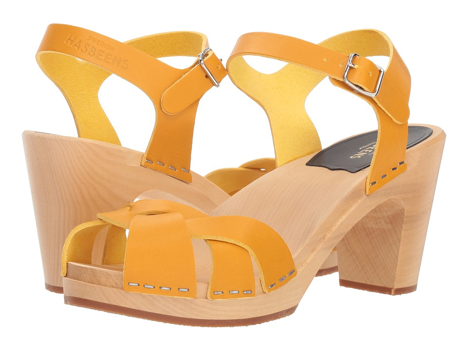 Swedish Hasbeens Kringlan (Warm Yellow) High Heels