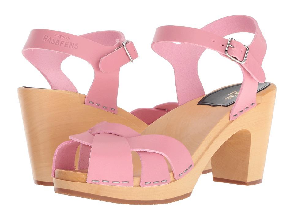 Vintage Style Shoes, Vintage Inspired Shoes Swedish Hasbeens Kringlan Bubble Gum Pink High Heels $239.00 AT vintagedancer.com