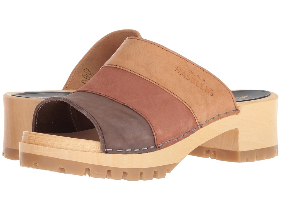 Swedish Hasbeens Mona (Brown Nubuck Color Combo) Sandals