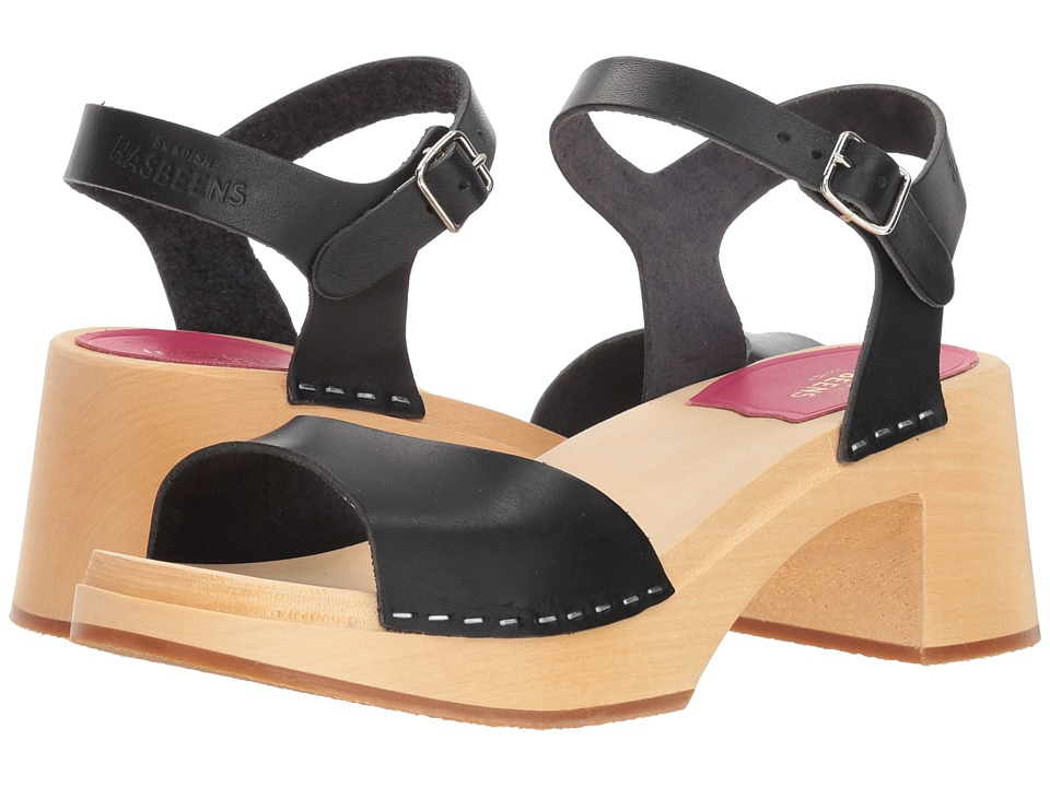 Swedish Hasbeens Mia (Black) Sandals