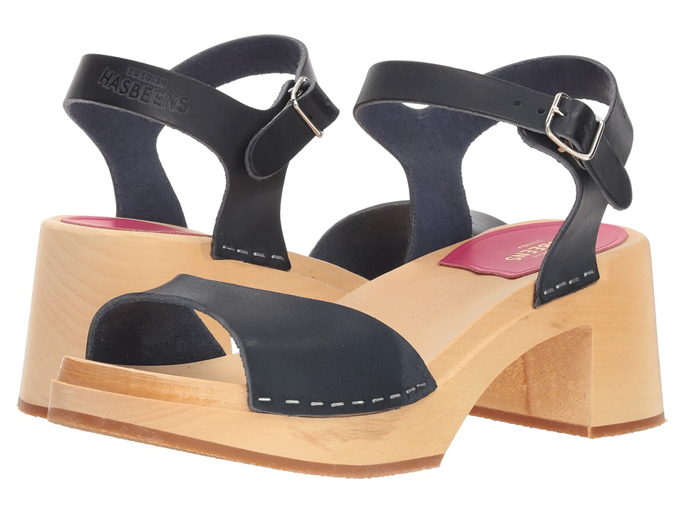 Swedish Hasbeens Mia (Dark Blue) Sandals