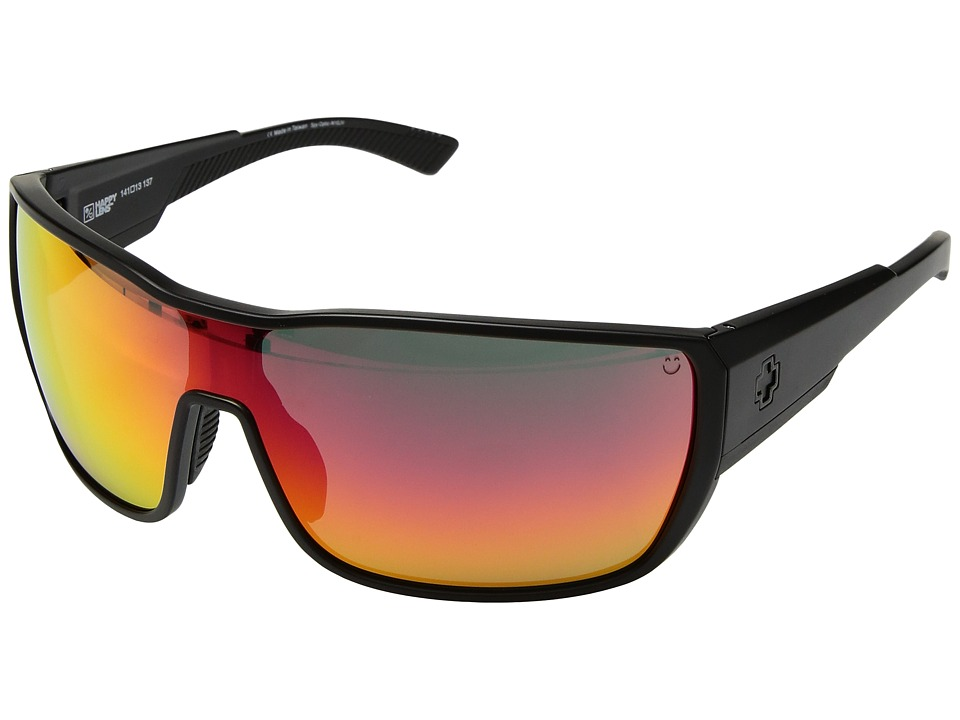 Spy Optic Tron 2 (Matte Black/Happy Gray Green/Red Spectra) Athletic Performance Sport Sunglasses