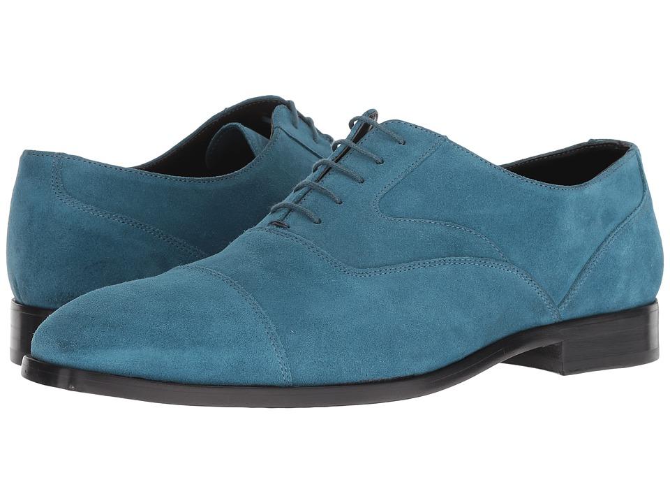 Paul Smith - Tompkins Cap Toe Oxford (Petrol Green) Mens Shoes