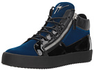 Giuseppe Zanotti May London Mid Top Velvet Sneaker