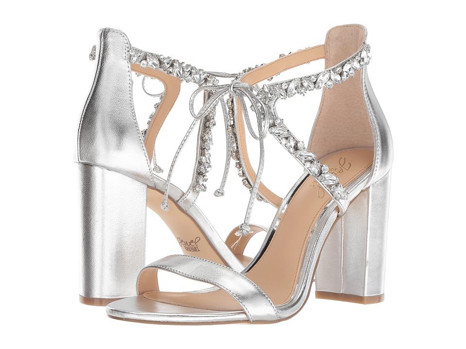 Jewel Badgley Mischka Thamar (Silver) Women's Shoes