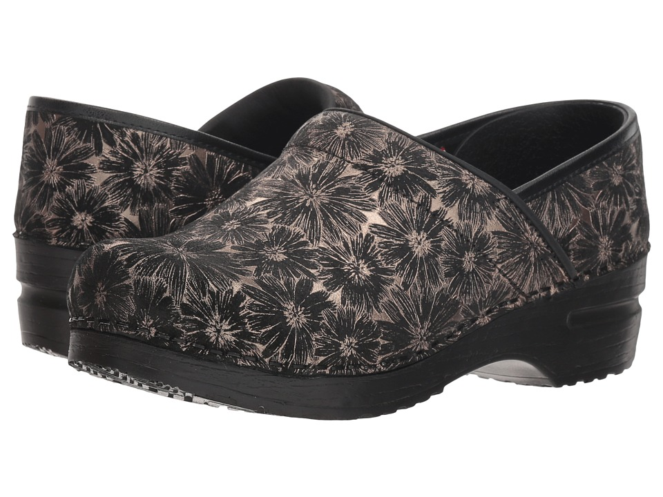 Sanita Professional Daisy Metallic (Black) Clogs