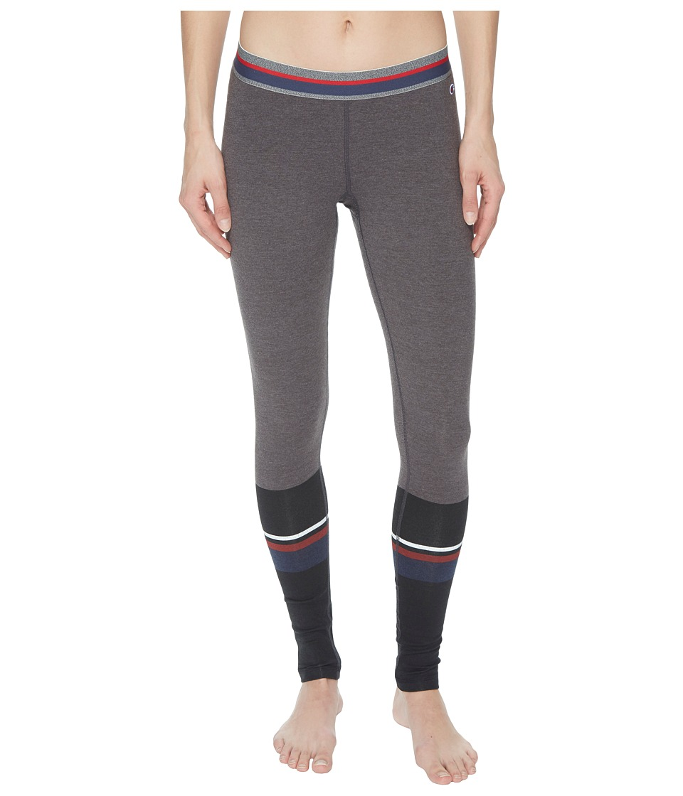 Champion - Authentic Leggings - Print (Tube Sock Placed Black) Womens Workout