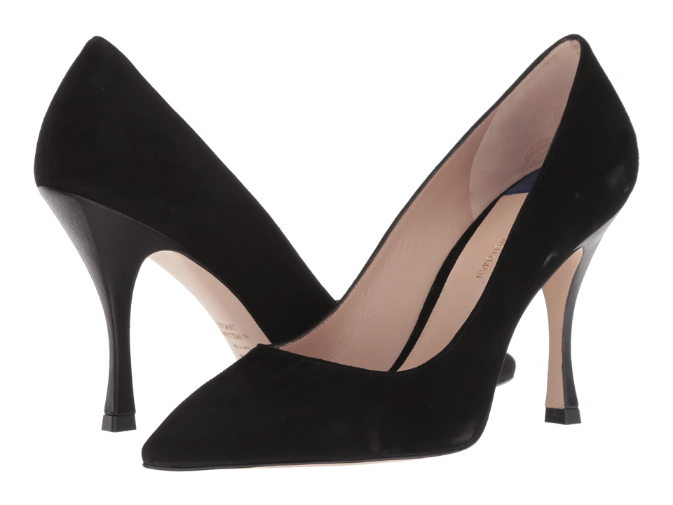 Stuart Weitzman Tippi 95 (Pitch Black Combo Suede) Women's Shoes