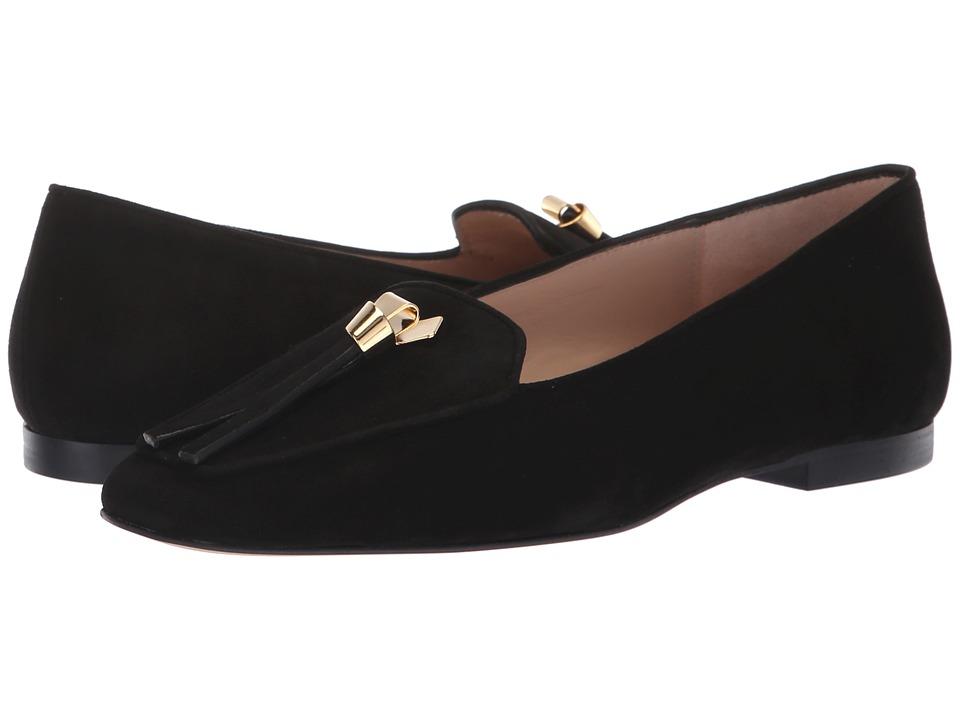 Stuart Weitzman Slipknot (Black Suede) Women's Shoes