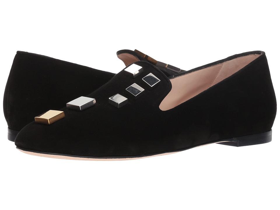 Stuart Weitzman Wells (Black Suede) Women's Shoes