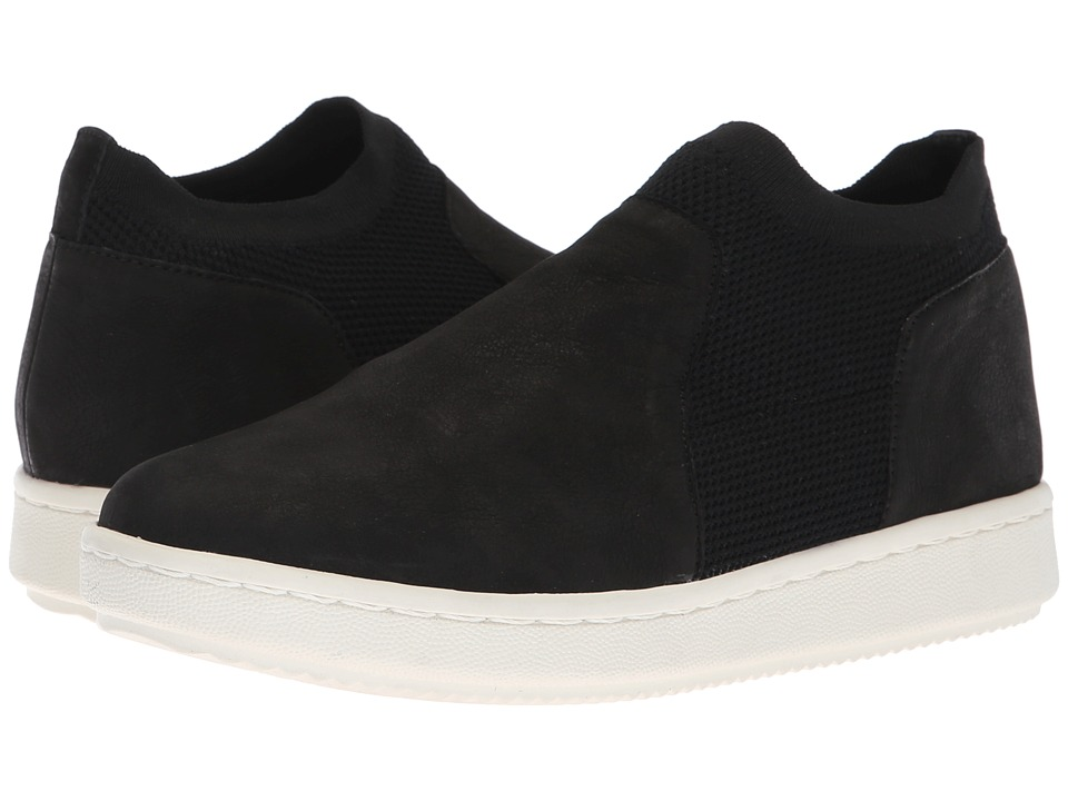 Eileen Fisher Metro (Black Nubuck Stretch) Women's Shoes