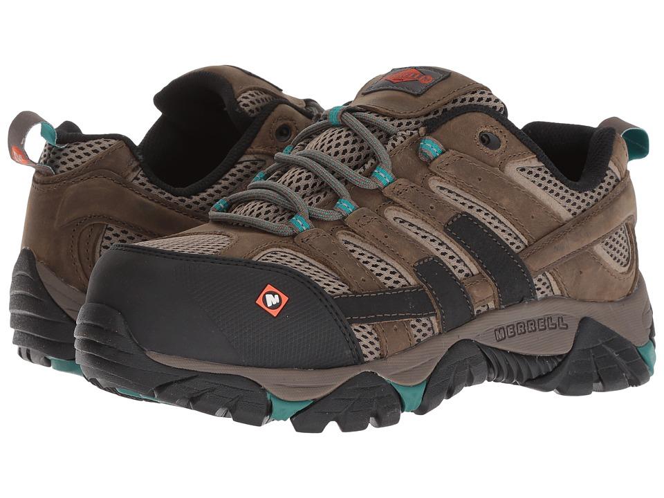 Merrell Work Moab 2 Vapor Comp Toe (Boulder) Women's Shoes