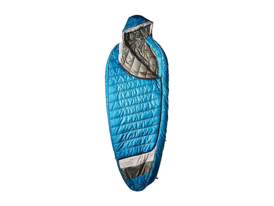 Kelty - Tuck 40 Degree Thermapro Ultra Regular Left Handed Zippers (Lyons Blue/Smoke) Outdoor Sports Equipment