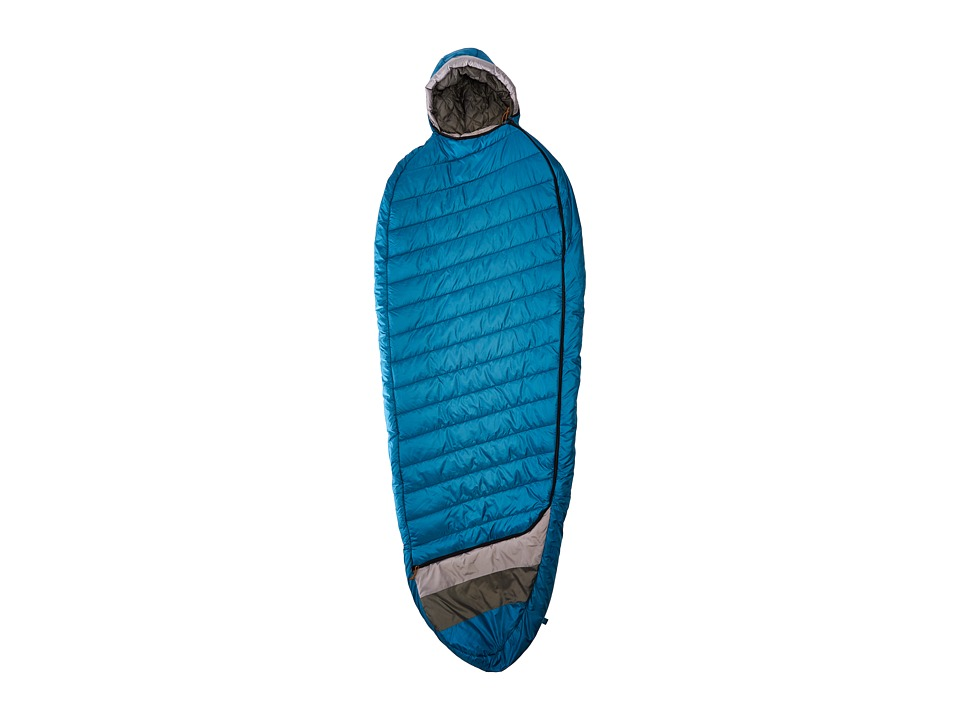 Kelty - Tuck 40 Degree Thermapro Ultra Long Left Handed Zippers (Lyons Blue/Smoke) Outdoor Sports Equipment