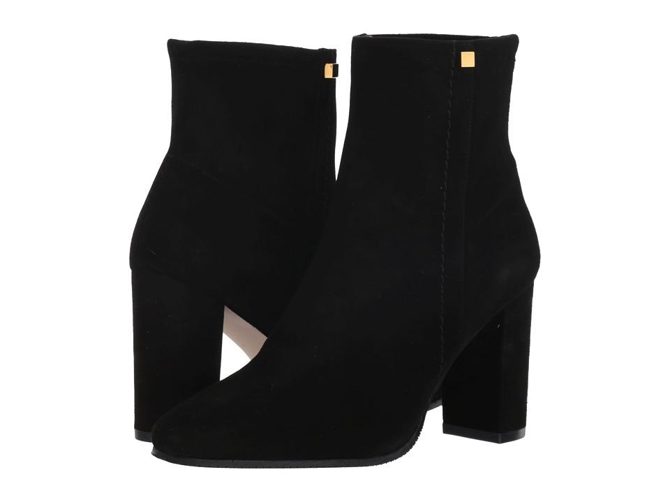 Stuart Weitzman Solo 85 (Black Suede) Women's Shoes