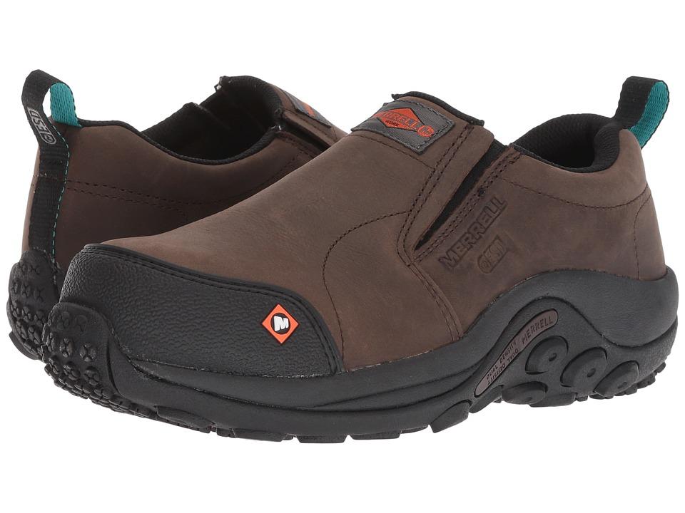 Merrell Work Jungle Moc Composite Toe SD (Espresso) Slip-On Shoes