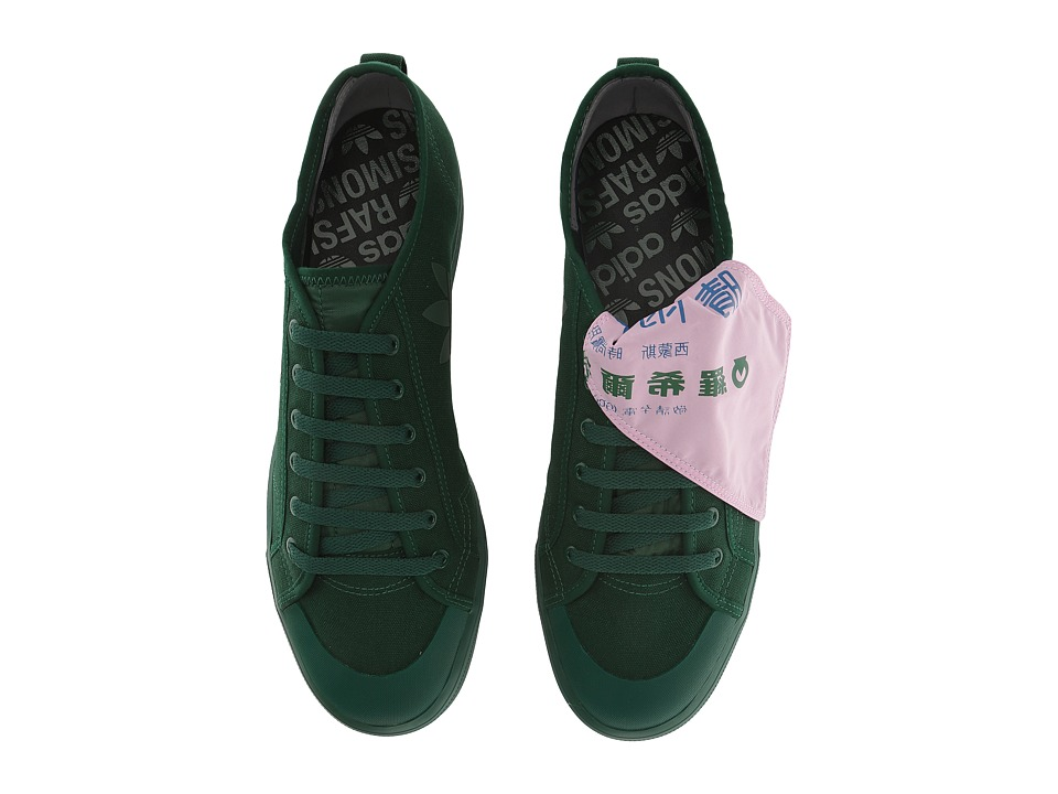 adidas by Raf Simons - Raf Simons Spirit Low Asymm (Dark Green/Dark Green/Pink) Mens Shoes