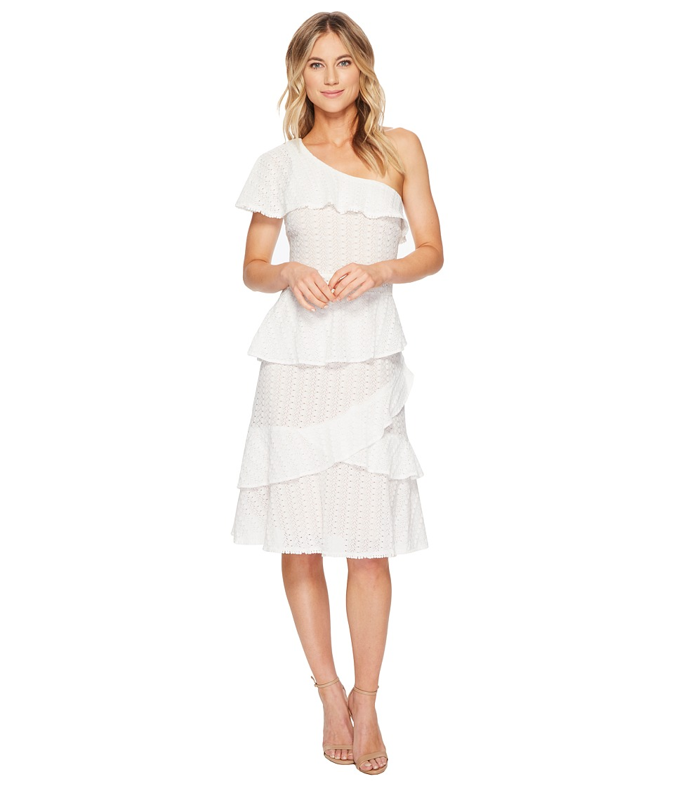 Adelyn Rae - Trixie One Shoulder Dress (White) Womens Dress
