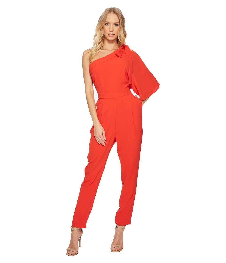 Adelyn Rae - Willow One Shoulder Jumpsuit (Red) Womens Jumpsuit & Rompers One Piece