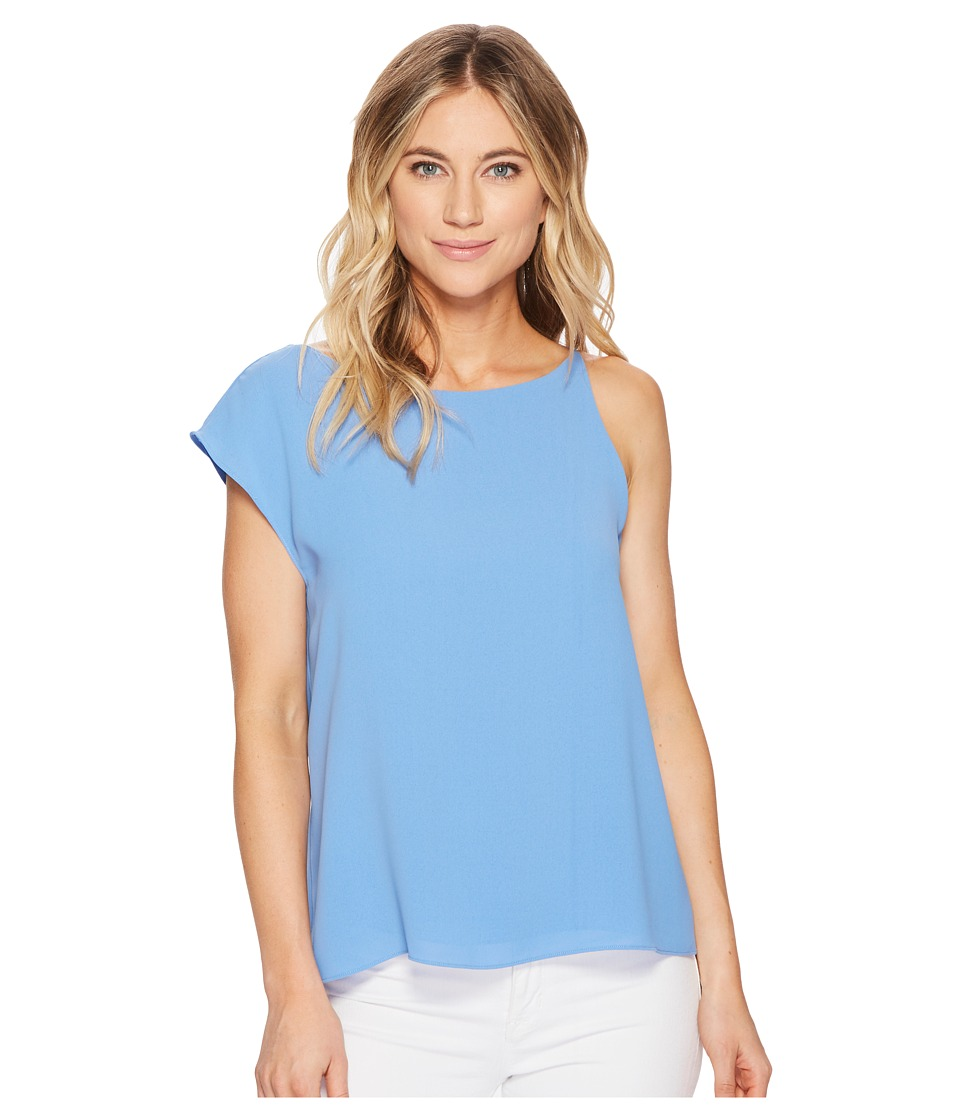 Image of Adelyn Rae - Addy Draped Top (Azure Blue) Women's Clothing