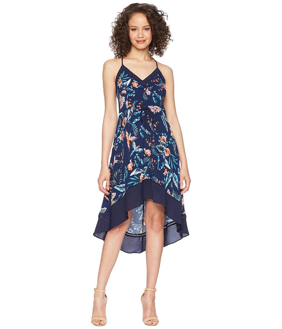 Adelyn Rae - Gianina Hi-Low Dress (Navy Multi) Womens Dress